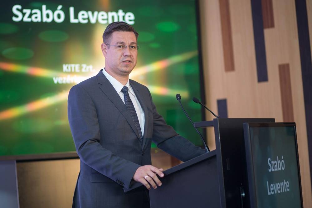 Szabó Levente KITE Zrt. vezérigazgatója