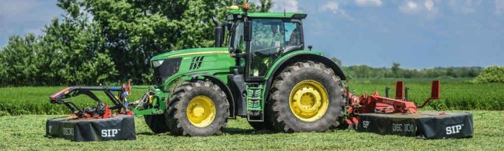 SIP Kasza JOhn Deere traktorral